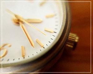 茶色い腕時計