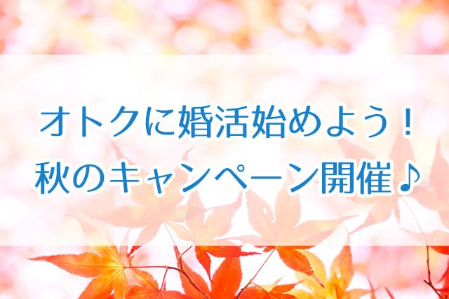 オトクに婚活始めよう!秋のキャンペーン開催